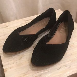 Time Size 8 Suede Perforated Flats